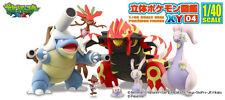 Pokemon Zukan 3D Encyclopedia 1/40 Scale Figure Vol.02 ~ Set of Four @80221