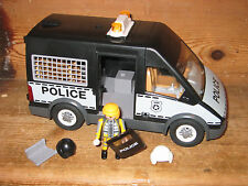 Playmobil city police riot protection police openou Van Camion playfigure Shield