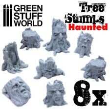 Haunted Tree Stumps - Resin, Dioramas, Modeling, Wargames, Forests, Woods, Elves
