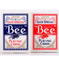 2 Decks Bee Standard Index Blue & Red Poker Playing Cards Club Special Magic NEW