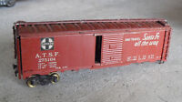 Vintage HO Scale Metal Wood ATSF Santa Fe 275164 Box Car