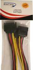 RiteCable (2 Pack) SATA to Dual SATA Power Splitter Cable Hard Drive HDD SSD