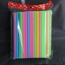 100Pcs Mixed Color 210*10mm Drinking Straws For Bubble Tea Smoothie Milkshake