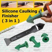 3 in 1 Silicone Caulking Finisher Tool Nozzle Spatulas Filler Spreader Tool/