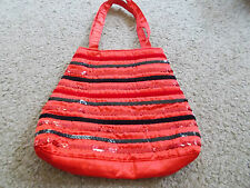 Girl's Red Satin and sequin bag