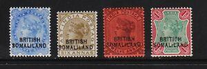 Somaliland Protectorate - 4 mint Victoria, cat. $ 38.25
