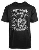 Vietnam Combat Veteran New Men's Shirt Military Air Force Respectful Liberal Tee