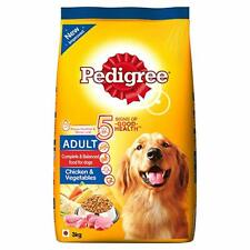Pedigree Adult Dry Dog Food Food, Chicken & Vegetables, 3kg Pack Free Shipping