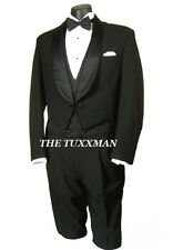 36 R Men's Black Tuxedo Tailcoat Mardi Gras TUXXMAN Formal Ball Gatsby Party Tux