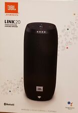JBL Link 20 Portable Voice-Activated Speaker System - Black  New/Factory Sealed