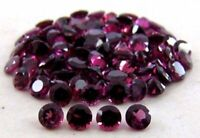 Lot Of 3x3mm -10x10mm Round Faceted Cut- Natural Rhodolite Garnet Loose Gemstone