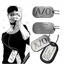 Anime GANGSTA Nicolas Brown Military Card Necklace Pendant Casual A/0 Cosplay