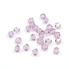 Perles Toupies 4mm en CRISTAL AUTRICHIEN - 5301 Light Amethyst - 20 pièces