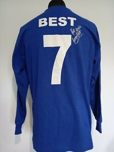 Manchester United Number 7 1968 ECF Retro Shirt Signed George Best Guarantee