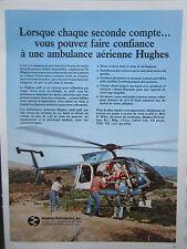 1984 PUB HUGHES HELICOPTERS HUGHES 500E 530F AMBULANCE MEDIVAC FRENCH AD