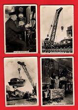 4 Cigarette Cards ~ British Railways: Engine Men & Cranes - Senior Service 1938