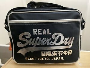 Superdry Classic Alumni Bag - Metallic Navy/Silver - BNWT