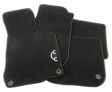 Genuine Front & Rear Carpeted Anthracite Black Floor Mats For VW Beetle 1998-10
