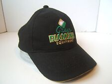 Green Diamond Equipment John Deere Hat Black Hook Loop Baseball Cap