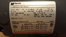 MAGNETEK / CENTURY AC MOTOR H261 8-151186-00 1/3 HP 208-230/460v 1725/1425 RPM