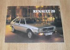 Renault 20 Brochure 1980 - 20 TL - 20 LS - 20 TS