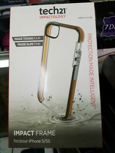 TECH21 IMPACTOLOGY IMPACT FRAME FOR IPHONE 5/5S - CLEAR
