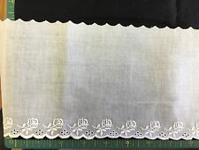 "CAPITAL IMPORTS #62772 A WHITE SWISS EMBROIDERED EDGING 6"" WIDE- BY THE YARD"
