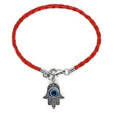 KABBALAH RED or BLUE STRING BRACELET Good Luck EVIL EYE CHARM Protection Hand