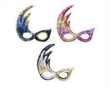 FLAME STYLE SEQUIN MASK,MASQUERADE EYE MASK, MASKED BALL, FANCY DRESS