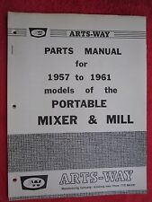 1957 To 1961 Arts Way Models Of Portable Mixer Amp Mill Parts Manual