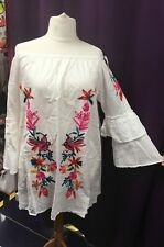 New EMBROIDERY Off Shoulder Summer top dress PLUS Size XL 20 22 24 curve