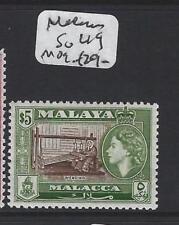 MALAYA MALACCA  (P1705B)  $5.00  QEII  SG 49   MOG