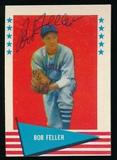 1961 Fleer Autographed -#25 Bob Feller (Cleveland Indians) *Hof* (d.2010)