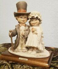 "G. Armani 7""x8"" Bride & Groom in Beautiful Atire Figurine in excellent condition"