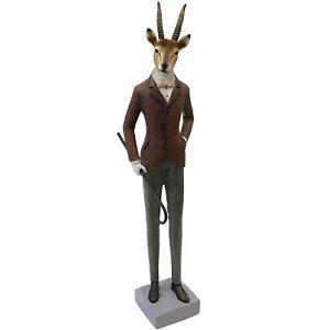 Mr Gazelle Sculpture Home Office Decor Ornament Figure