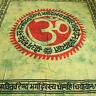 COUVRE-LIT COUVERTURE OM Gayatri Mantra tissu déco Batik Drap Yoga Hippie Goa