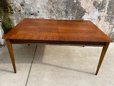 Vintage Mid Century Lane Furniture Dining Room Table Walnut