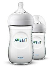 Avent Natural Feeding Bottle Twin Pack 260mL Slow Flow Teat 1 Month