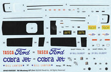 Bill Lawton Tasca Ford Cobra Jet NHRA DRAG 1/25th - 1/24th Scale DECALS