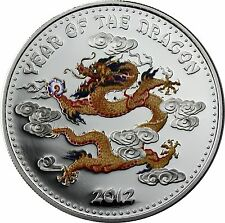 Laos 1000 Kip 2012 Year of the Dragon - 1 Oz Silver Proof Coin