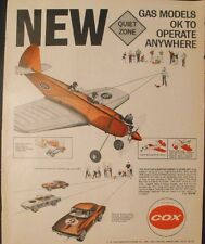 1966 Cox Gas Powered Model Airplane~QZ Corvette Sting-Ray Toy Promo AD