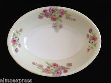 Rare GHB Japan Fine China Floral Flowers OVAL CASSEROLE BOWL