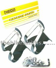 MKS Half Mini Steel Toe Clips Classic Chrome Japan Made Pedal Clip Fixed Gear
