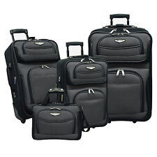 Travel Select Amsterdam Gray 4-Piece Expandable Rolling Luggage Suitcase Bag Set