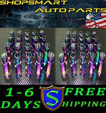 2 SET 12X1.5 NEO CHROME STEEL TUNER LUG NUT SET 20 12 X 1.5 HONDA CIVIC CRX CRV