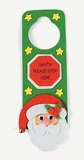 4 pack Santa Stop Here Christmas Craft Kit Foam Door Hanger