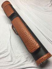 J&J Ostrich Embossed Leatherette Cue Case 3 Butt 6 Shaft 3x6 Whitten Style