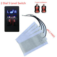 4 X Heater Pad Universal Heated Cushion Heater Seating For 2 Seat 5-level Switch