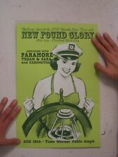 New Found Glory Paramore Tegan And Sara & Poster Silkscreen S/N August 10 2010