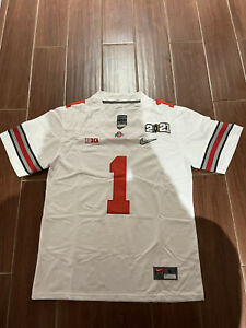 Justin Fields Championship 2021 Jersey Away White Size Small - 2 Extra Large